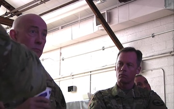 LTG Luckey at Ft. Story during briefing