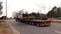 NASA Orion platform transported through Fort Eustis