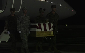 Dignified transfer of repatriated remains from Tarawa