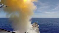 USS Antietam launches SM-2 missile