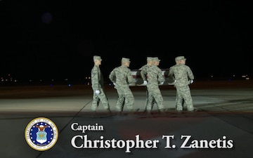 Air Force Capt. Christopher T. Zanetis and Master Sgt. Christopher J. Raguso -- Dignified Transfer
