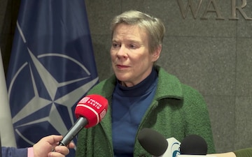 Press conference by NATO Deputy Secretary General Rose Gottemoeller at Warsaw Military Airport