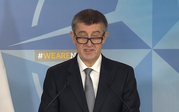 Visit to NATO by the Prime Minister of the Czech Republic