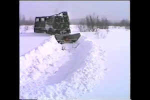 SUSV Towed Snow Plow Tests