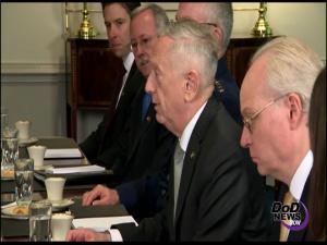 Mattis Welcomes Crown Prince of Saudi Arabia to Pentagon