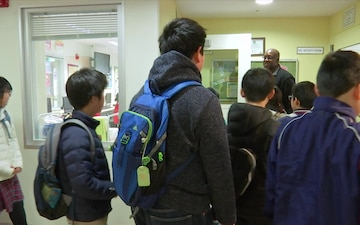 Cultural Exchange with Local Elementary Schools