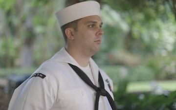 Pacific Fleet's Sailor of the Year Finalist Electronics Technician 1st Class Christopher L. Demo Interview B-Roll