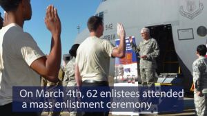 908th Mass Enlistment Ceremony