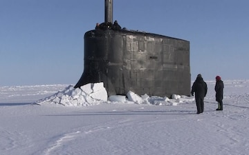 USS Connecticut (SSN 22) Surfaced in the Arctic Ocean for ICEX