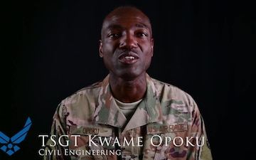 Package: Teaser for TSgt Kwame Opoku in the AF vs Army basketball game on ADAB