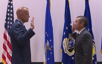 AFCEC's Director takes the Oath of Service during promotion ceremony