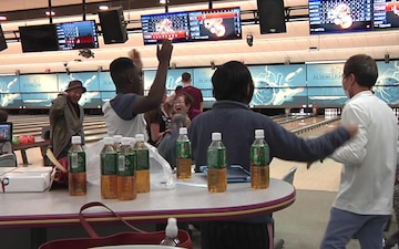 Iwakuni service members bowl with Japanese citizens (Package/Pkg)