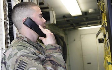 455th ECS Airman enables the mission