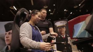 Marines Partner with Women in Aviation International