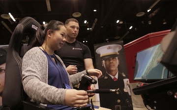 Marines Partner with Women in Aviation International
