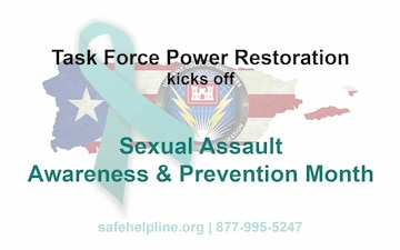 Task Force Power Restoration Kicks Off Sexual Assault Awareness & Prevention Month from Puerto Rico