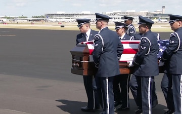 The dignified arrival of Major Andreas O'Keeffe