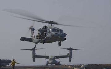 26th MEU posts on flight deck during Bab al-Mandeb Strait