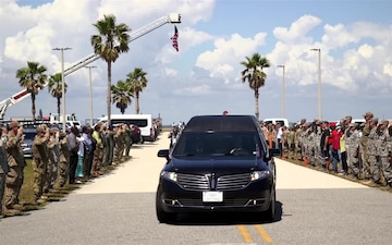Patrick Air Force Base community welcomes home fallen hero