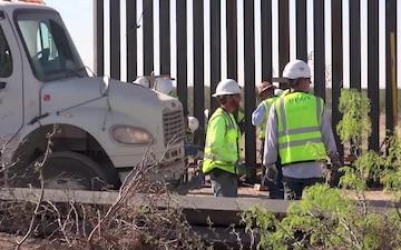 B-Roll: Santa Teresa Border Wall Replacement Project - First Panels