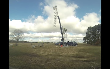 Tower installation time lapse