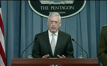 Mattis, Dunford, Brief Press Regarding Syria Strike