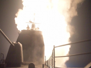 USS Monterey Launches Syria Missile Strikes