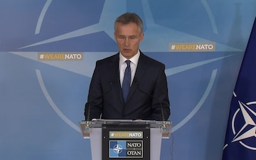 Press point by NATO Secretary General Jens Stoltenberg after North Atlantic Council meeting on Syria