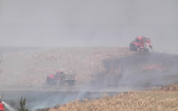 Oklahoma National Guard responds to wildfires in Western Oklahoma - BROLL