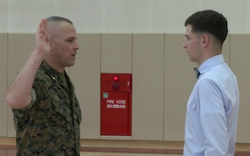 Marine recruiters from Guam visit Matthew C. Perry High School (B-Roll)