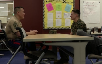 Marine Recruiters from Guam Visit Matthew C. Perry High School (Package/Pkg)