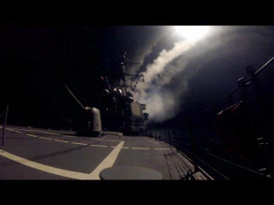 USS Higgins Conducts Strike Operations