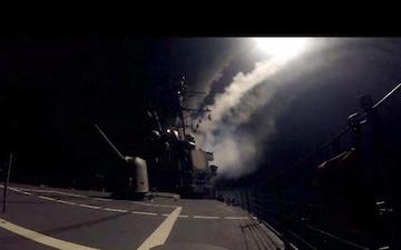 USS Higgins Conducts Strike Operations
