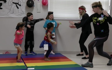 Marine Corps Family Team Building hosts Junior Ninja Day (B-Roll)