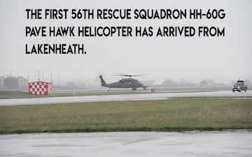 Aviano Now: First 56 RQS helicopter lands