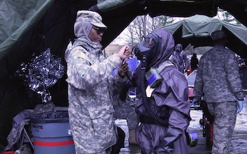 Practice makes perfect during nation-wide CBRN scenario for 231st Chem. Co.