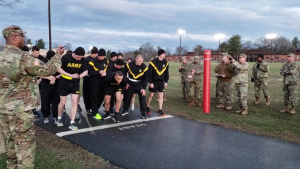 Best Warrior Competition Contestants Perform Physical Fitness