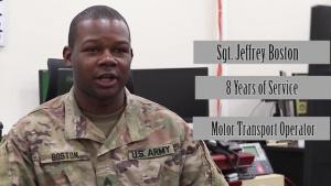 "Army Reserve Highlight ""Sgt. Jeffrey Boston"""