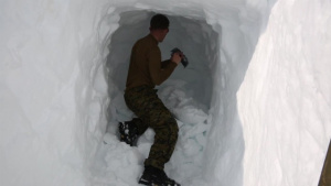 Winter Warfare Training: snow caves