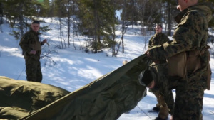 Winter Warfare Training: tent assembly