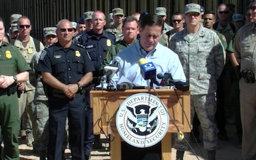 Secretary of Homeland Security Kirstjen Nielsen visits the San Luis II Commercial Port of Entry in Arizona
