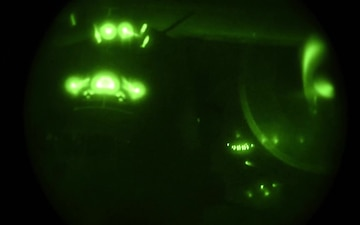 Speacial operations air refueling night vision B-Roll