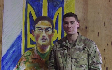 New York Army National Guard Soldier uses art to break the language barrier