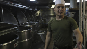 Cook-Off: U.S. Marine prepares for cooking competition
