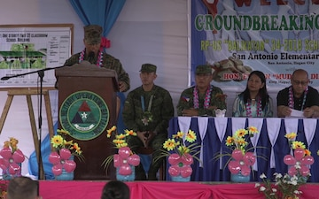 Balikatan 18: Groundbreaking Ceremony at San Antonio Elementary School