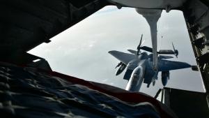 BROLL: KC-10 Refuels F-15 Eagles