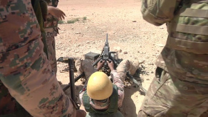 U.S. and Jordanian Armed Forces Live Fire Range w/lower thirds