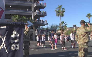 Army Reserve Drill Sergeants, C Co 1-415, Participate in the 14th Annual Pat Tillman Run in Tempe Arizona 21 April 2018.