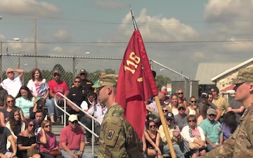 Members of Battery A, 3rd Battalion, 116th Field Artillery Regiment deploy from Plant City