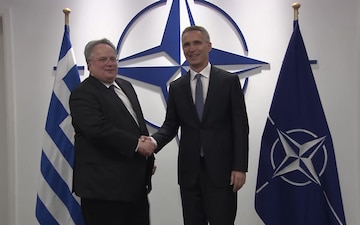NATO Secretary General's bilateral meeting with Greece minister ahead of the ministerial
